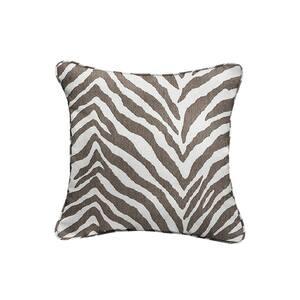 Sorra Home Sunbrella Namibia Grey Outdoor Corded Throw Pillows (2-Pack)