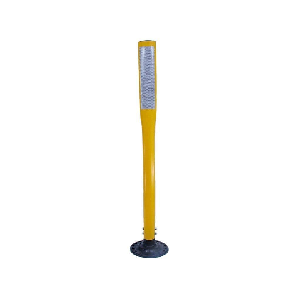 Post Only Polyethylene Portable Delineator Post Yellow Set of 5 Troy Safety 42 Height