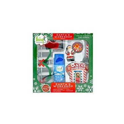 Santa's Workshop Polyresin Fairy Garden Kit (9-Piece)