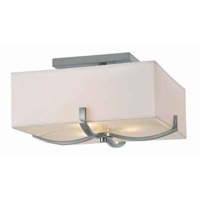 Palmer 3-Light Brushed Nickel Flush Mount Light