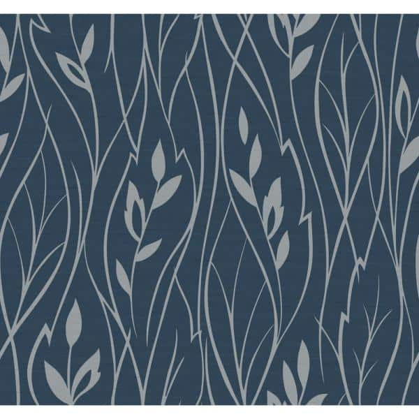 York Wallcoverings Dazzling Dimensions Leaf Silhouette Paper Strippable Roll Wallpaper Covers 60 75 Sq Ft Y6200802 The Home Depot