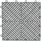 1 ft. x 1 ft. Silver Polypropylene Garage Flooring Drain Tile (4-Pack)