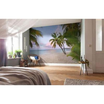 145 in. H x 98 in. W Paradise Morning Wall Mural