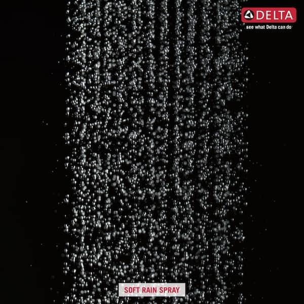 Delta - 1-Spray 8 in. Single Wall Mount Square Fixed Rain Shower Head in Chrome