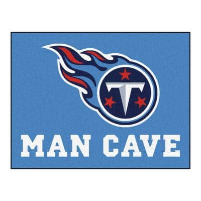 Tennessee Titans Blue Man Cave 3 ft. x 4 ft. Area Rug