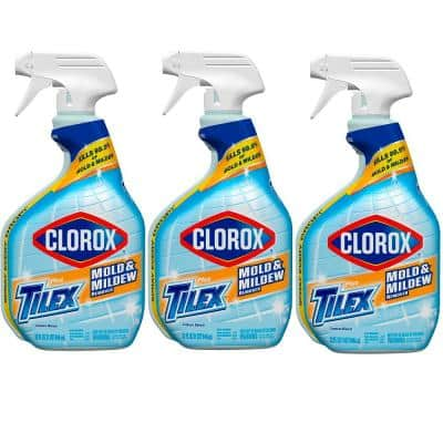 Tilex 32 oz. Mold and Mildew Remover and Stain Cleaner Spray with Bleach (3-Pack)