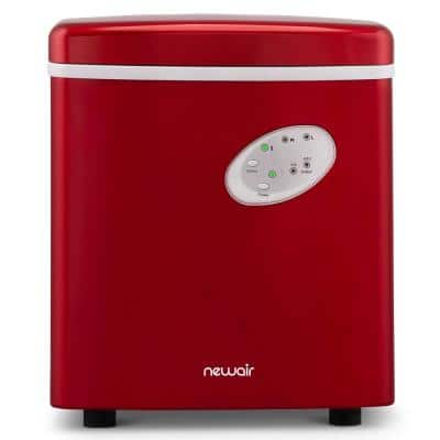 Portable 28 lb. of Ice a Day Countertop Ice Maker BPA Free Parts with 3 Ice Sizes and Ice Scoop - Red