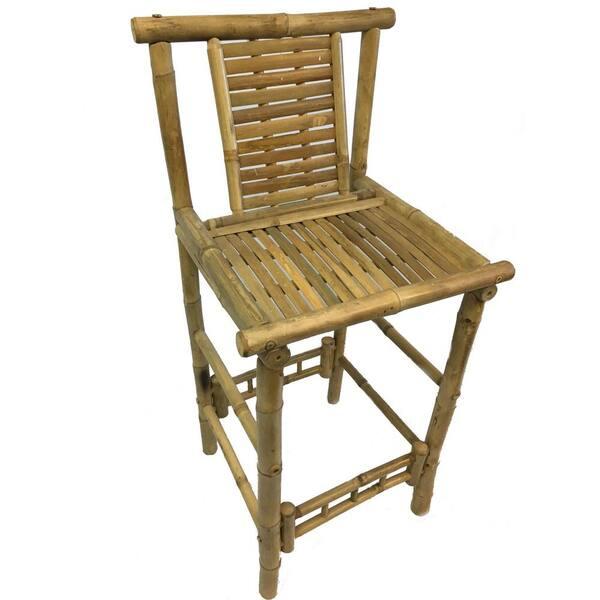 Mgp 45 In H Bamboo Tiki Bar Stool With, Outdoor Tiki Bar Chairs