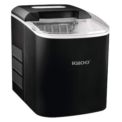 26 lb. Portable Ice Maker, Black