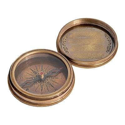 Keira Antique Pocket Compass in Brass