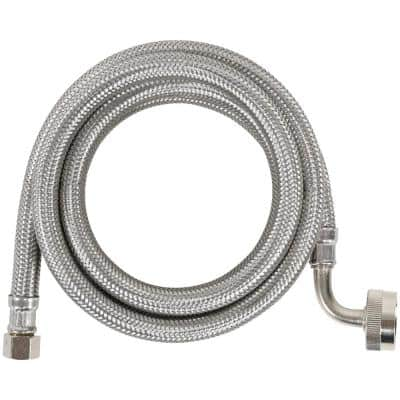6 ft. Braided Stainless Steel Dishwasher Connector with Elbow (40-Pack)