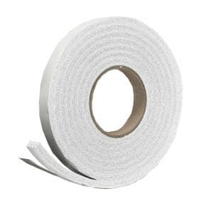 3/4 in. x 7/16 in. x 10 ft. White High-Density Rubber Foam Weatherstrip Tape