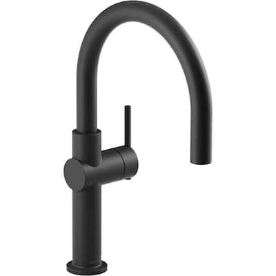 Crue Single-Handle Bar Faucet in Matte Black