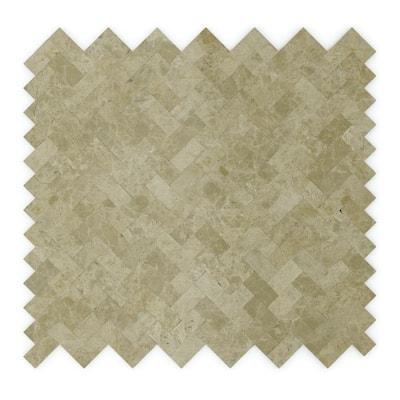Macademia Beige 12.09 in. x 11.65 in. x 5 mm Stone Self-Adhesive Wall Mosaic Tile