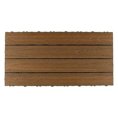UltraShield Naturale 2 ft. x 1 ft. Quick Deck Outdoor Composite Deck Tile in Peruvian Teak (20 sq. ft. Per Box)