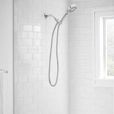 Danay 4-Spray 4.7 in. Single Wall Mount Handheld Adjustable Shower Head in Chrome