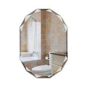 24 in. W x 36 in. L Single Beveled Edge Bath Wall Vanity Mirror
