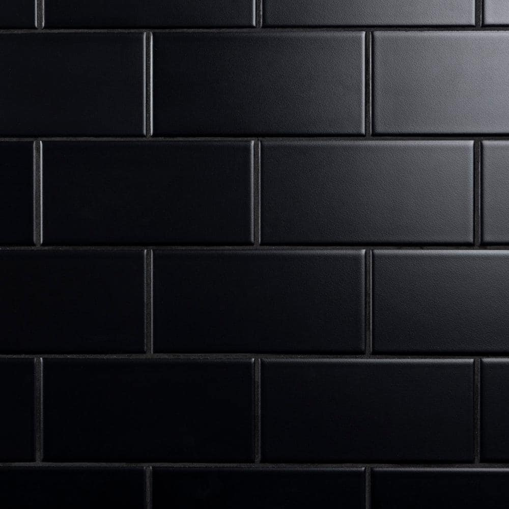 Reviews For Merola Tile Crown Heights 3 In X 6 In Matte Black Ceramic Wall Tile 6 03 Sq Ft Case Web3chmb The Home Depot