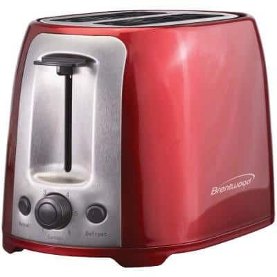 2-Slice Red Extra-Wide Slot Toaster