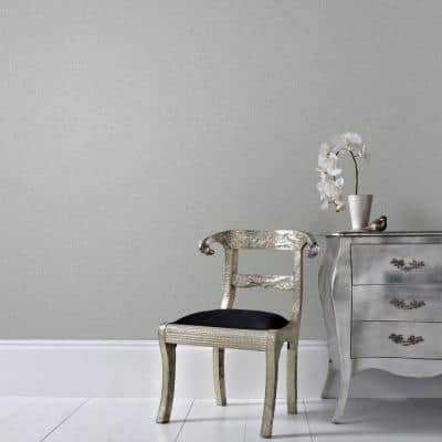 Chenille Gray/Silver Gray and Silver Wallpaper Sample