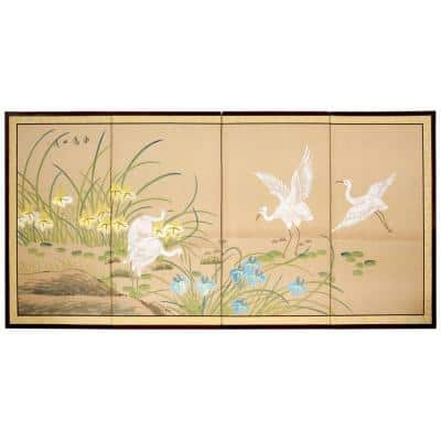 """36 in. x 72 in. """"Birds on the Pond"""" Wall Art"""