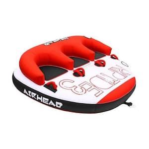 Riptide 3 Triple Rider Inflatable Boat Towable Backrest Tube