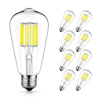 100-Watt Equivalent ST64 E26 Edison LED Light Bulb in Neutral White (8-Pack)