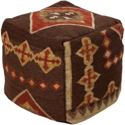 Thorburn Dark Brown Accent Pouf