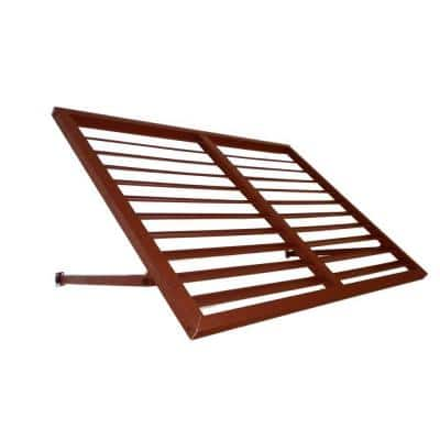 4 ft. Bahama Metal Shutter Awning (24 in. H x 36 in. D) in Copper