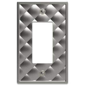 Hancock Satin Nickel 1-Gang Decorator/Rocker Wall Plate