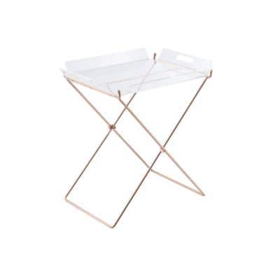 Cercie Tray Table in Clear Acrylic and Copper