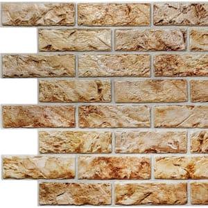 3D Falkirk Retro II 39 in. x 23 in. Copper Brown Faux Bricks PVC Wall Panel