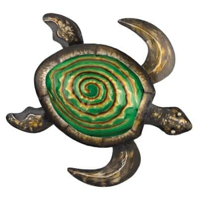 18 in. Bronze Sea Turtle Wall Dcor