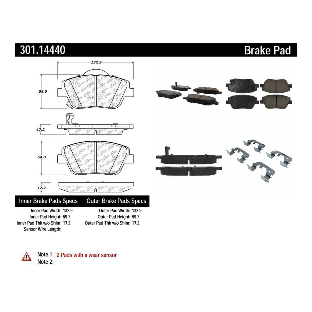 Centric Parts Disc Brake Pad Set 301 14440 The Home Depot