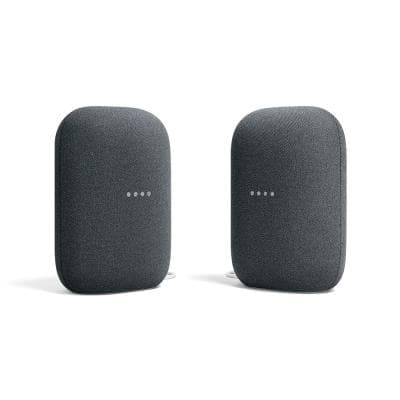 Nest Audio - Smart Speaker with Google Assistant in Charcoal (2-Pack)