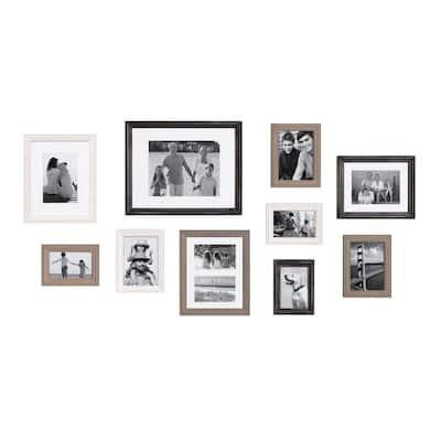 Bordeaux Multi/Black Picture Frames (Set of 10)