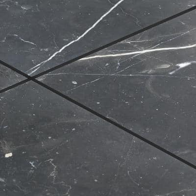 Blackout Nero Marquina 24 in. x 24 in. Polished Marble Floor and Wall Tile (11.62 sq. ft./Case)