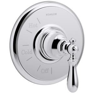 Artifacts 1-Handle Wall-Mount Tub and Shower Faucet Trim Kit in Polished Chrome (Valve Not Included)
