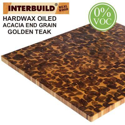 Acacia 3 ft. L x 36 in. D x 1.5 in. T Butcher Block Island Countertop in Golden Teak Stain