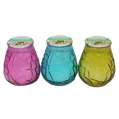 10.58 oz. Citronella Glass Retro Candle (3-Pack)