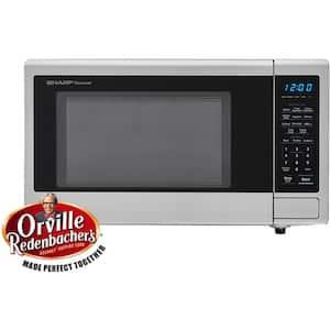 Carousel 1.1 cu. ft. 1000-Watt Countertop Microwave Oven in Stainless Steel (ISTA 6 Packaging)