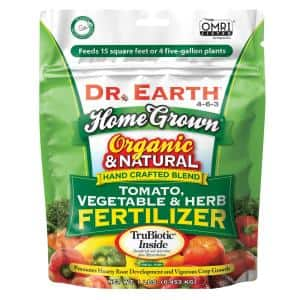 1 lb. 15 sq. ft. Organic Home Grown Tomato Vegetable and Herb Dry Fertilizer
