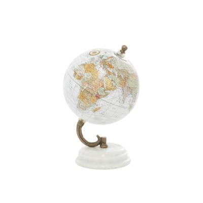 """Small Terrestrial World Globe with Marble Base, 5"""" x 7"""""""