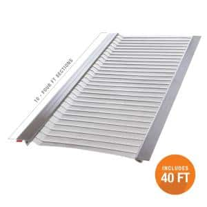 4 ft. L x 6 in. W Stainless Steel Micro-Mesh Gutter Guard (10-Pack)