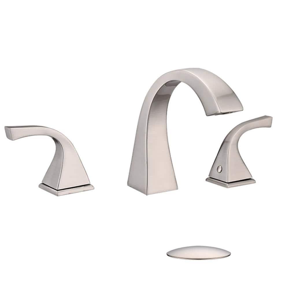 Three Hole 2 Handle Bathroom Faucet, 3 Piece Bathroom Faucet