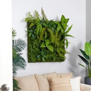 40 in. x 40 in. Artificial Forest Living Wall