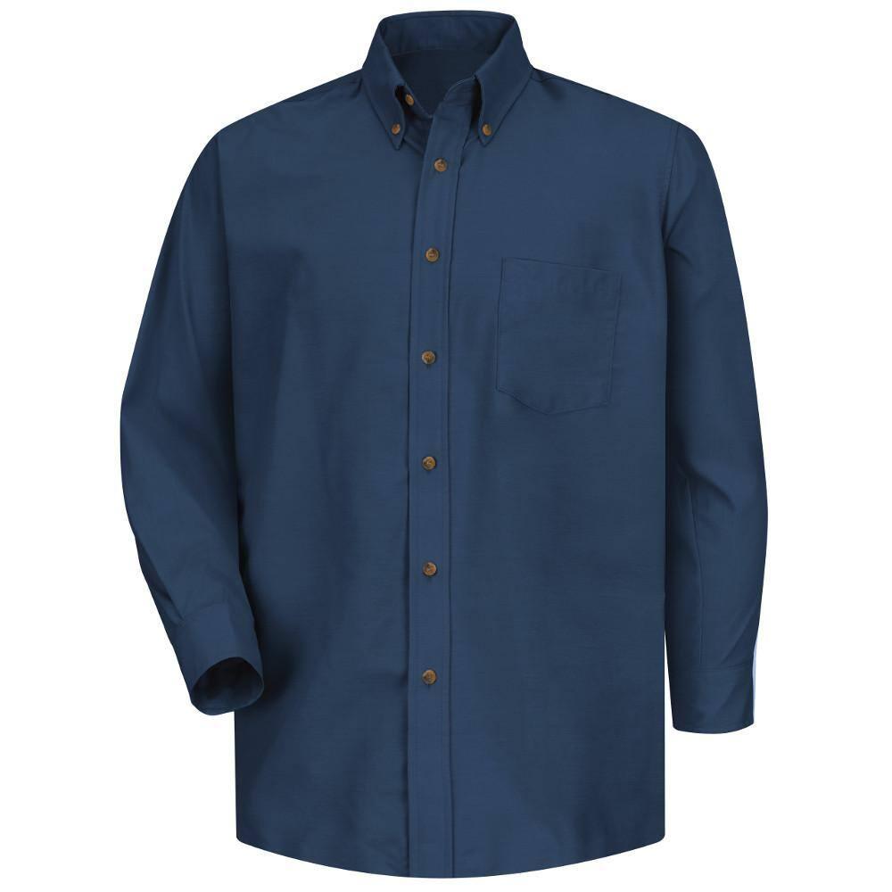 Reviews for Red Kap Men's Size XL x 20/20 Navy Poplin Dress Shirt ...