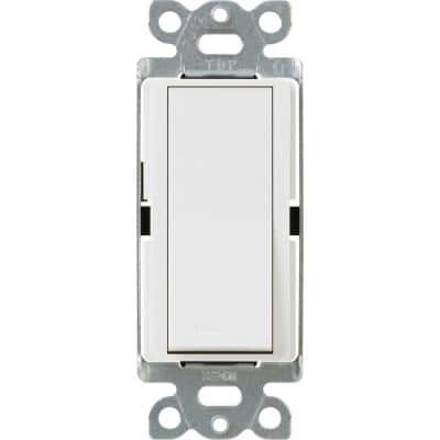 Claro 15 Amp On/Off 3-Way Switch, White