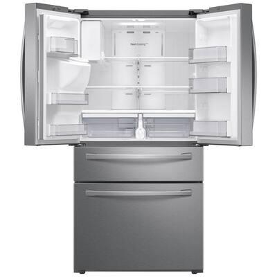 23 cu. ft. 4-Door French Door Refrigerator in Fingerprint Resistant Stainless Steel, Counter Depth