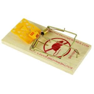 Cheese Shaped Plastic Trigger Wooden Snap Mouse Trap (8-Pack)